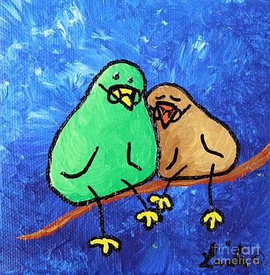 Limb Birds - Lasting Love Art Print by Linda Eversole
