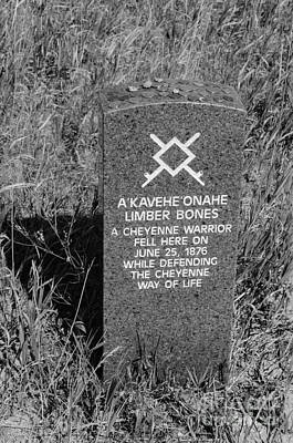 Photograph - Limber Bones- A Cheyenne Warrior- Fell Here  by Debra Martz