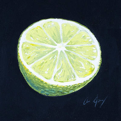 Juicy Painting - Lime by Aaron Spong
