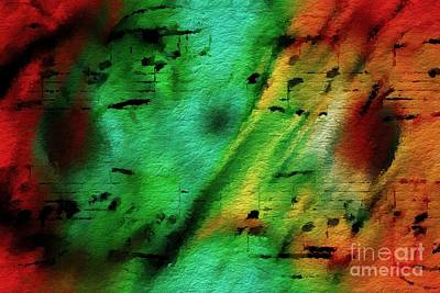 Art Print featuring the digital art Lime And Orange Counterpoint by Lon Chaffin