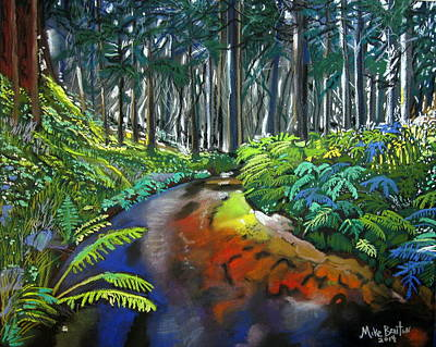 Pastel - Lime Creek by Mike Benton