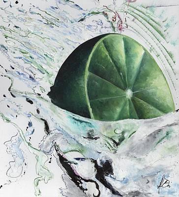 Lemon Drops Painting - Lime Drop - Close Version by Henry Diaz