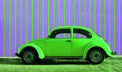 Lovers Digital Art - Lime Green Bug by Laura Fasulo