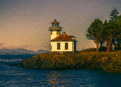 Lime Kiln Lighthouse Art Print by John K Woodruff