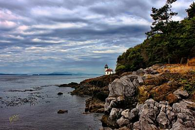 Just Desserts - Lime Kiln Lighthouse and Rocks by Rick Lawler