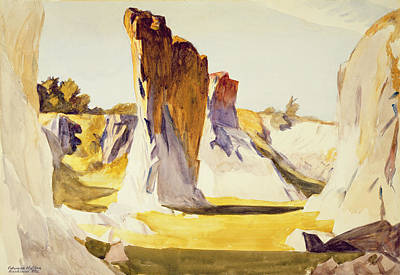 Maine Painting - Lime Rock Quarry II by Edward Hopper