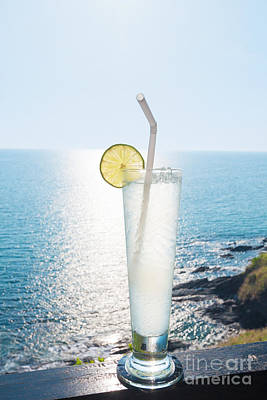 Fizz Photograph - Lime Soda by Atiketta Sangasaeng