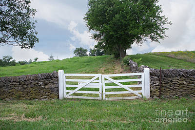 Photograph - Limestone Fence Gate by Kay Pickens