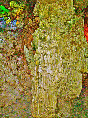 Limestone Formations In Heavenly Palace Cavern By Ha Long Bay-vietnam  Original by Ruth Hager