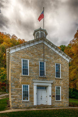 Limestone School House Art Print by Paul Freidlund