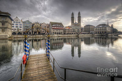 Photograph - Limmat River Reflections by Yhun Suarez