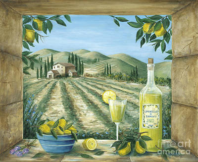Wine Art Painting - Limoncello by Marilyn Dunlap