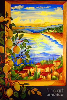 Limoni And The Lake Art Print by Roberto Gagliardi