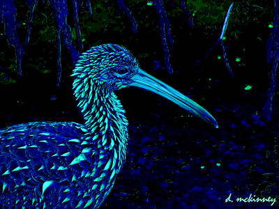 Art Print featuring the painting Limpkin by David Mckinney