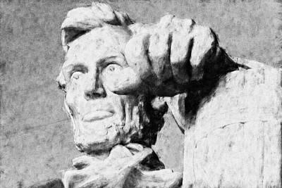 Lincoln Memorial Digital Art - Lincoln - 3463 Graphite Drawing 2 Hp by David Lange