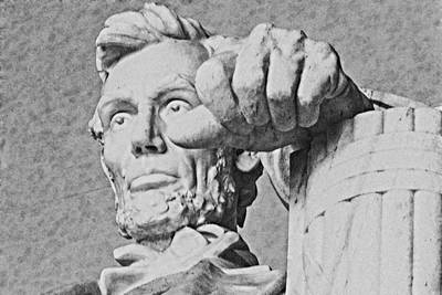 Lincoln Memorial Digital Art - Lincoln - 3463charcoal 2 Hp by David Lange