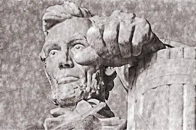 Lincoln Memorial Digital Art - Lincoln - 3463classic Drawing Hp by David Lange