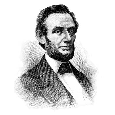 Photograph - Lincoln 1886 Restored Drawing by Phil Cardamone