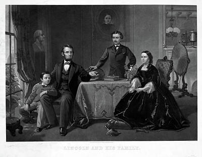 Lincoln And Family Art Print