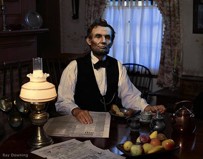 Lincoln Portrait Digital Art - Lincoln At Breakfast 2 by Ray Downing