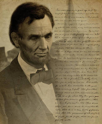 Gettysburg Address Digital Art - Lincoln At Gettysburg by Ray Downing