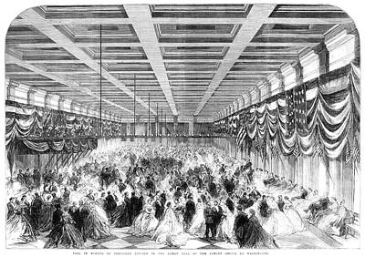 Lincoln Ball, 1865 Art Print by Granger
