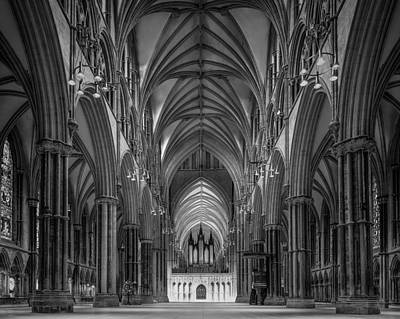 Lincoln Cathedral Nave Print by Ian Barber