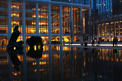 Photograph - Lincoln Center Gold by Cornelis Verwaal