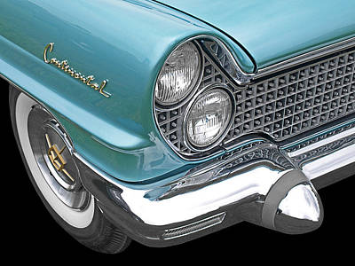 Photograph - Lincoln Continental 1960 Blue by Gill Billington