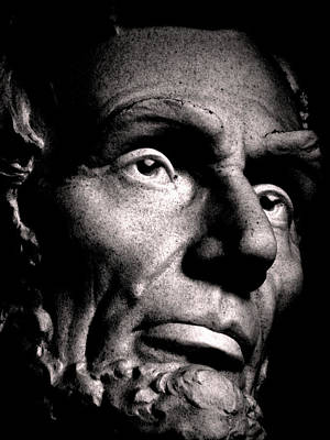 Wall Art - Photograph - Lincoln-face by Mickey Murphy