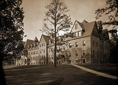 Lincoln Hall, Cornell University, Cornell University Art Print by Litz Collection