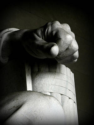Wall Art - Photograph - Lincoln-hand by Mickey Murphy