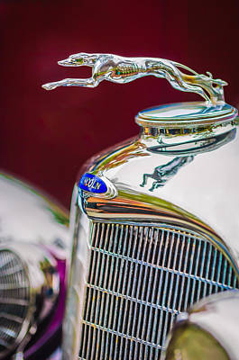 Photograph - Lincoln Hood Ornament - Grille Emblem -1187c by Jill Reger