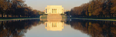 Lincoln Memorial Photograph - Lincoln Memorial & Reflecting Pool by Panoramic Images