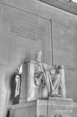 Photograph - Lincoln Memorial 2 Black And White by Jonathan Harper