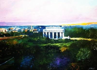 Lincoln Memorial Painting - Lincoln Memorial by Al Brown