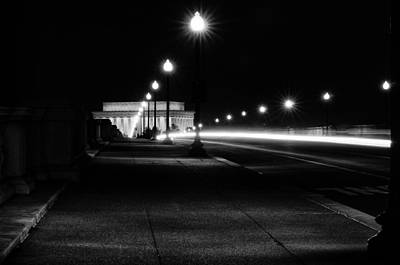 Photograph - Lincoln Memorial At Night by Celso Diniz