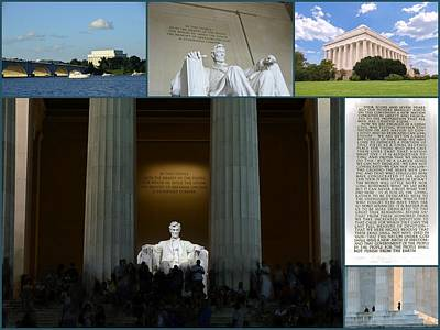 Photograph - Lincoln Memorial Collage  by Allen Beatty