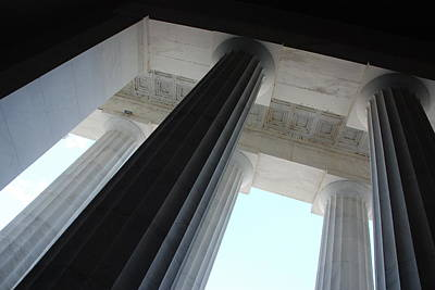 Photograph - Lincoln Memorial Columns by Kenny Glover