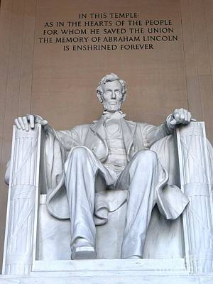 Photograph - Lincoln Memorial by Ed Weidman