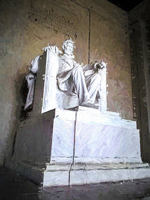 Lincoln Memorial Painting - Lincoln Memorial by Ike Krieger