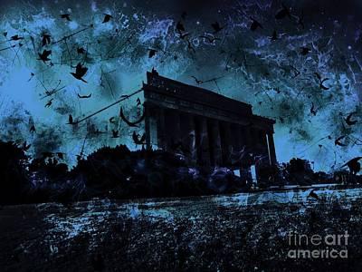Lincoln Memorial Digital Art - Lincoln Memorial by Marina McLain