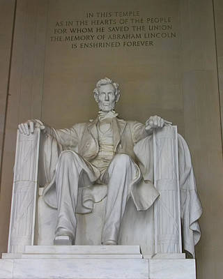 Photograph - Lincoln Memorial by Mary Almond
