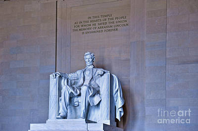 Photograph - Lincoln Memorial National Mall Washington Dc by David Zanzinger