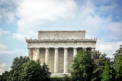 Photograph - Lincoln Memorial Side View by Sennie Pierson