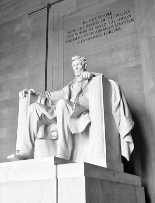 Photograph - Lincoln Memorial by Steven Ralser