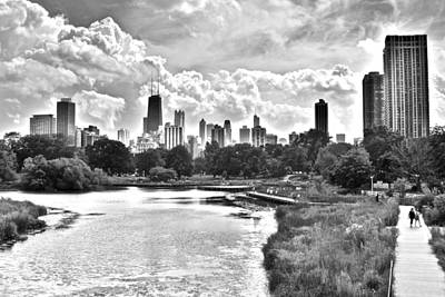 Oprah Winfrey Photograph - Lincoln Park Black And White by Frozen in Time Fine Art Photography