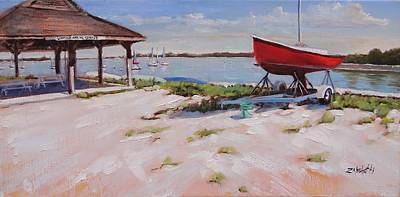 Massachusetts Painting - Lincoln Sailing Center by Laura Lee Zanghetti