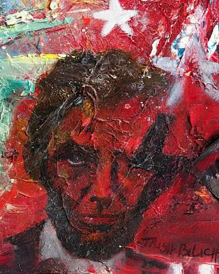 Ac - Dc Painting - Lincoln Seeing Red by Trish Bilich
