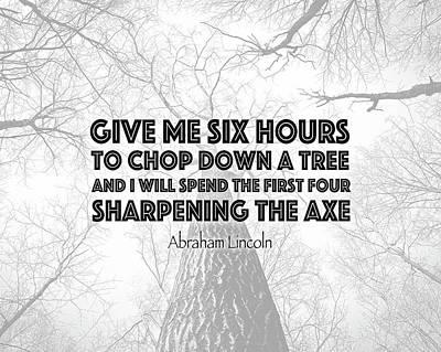 Lincoln Tree Quote Art Print